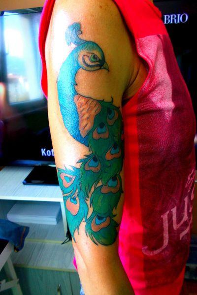 tattoo#peacock#color