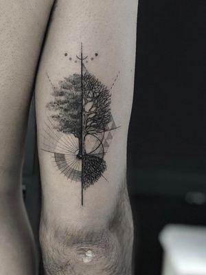 Tree of life #blackandgrey #blackwork #Black #treeoflife #ink #nyc #Tattoodo #alianilercel
