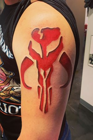 Mandalorian tattoo that I got to do!