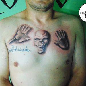 #pecho #craneo #calavera #skull #chesttattoo