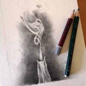 #candletattoo #candle #candles #smoke #smoky #pencildrawing #blackandgrey #graphite #studying