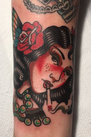Lady thing!  #traditionaltattoo #traditional #ClassicTattoo