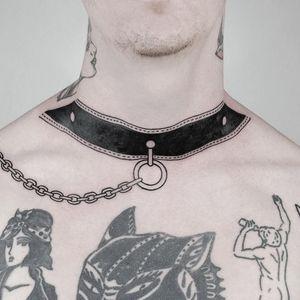 Tattoo by mateutsa #mateutsa #uniquetattoos #unique #different #special #besttattoos #blackwork #linework #bdsm #necktattoo #kinky