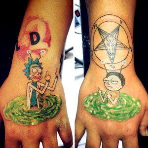 Rick and morty #la_casa #Dagón_Tattoo_Studio CBBA-BOLIVIA