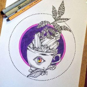 #caffeeplant #psychedelic #thirdeye #drawing