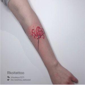 #flowertattoo #watercolorflowers #watercolortattoo #tattoo #melbournetattoo #melbournetattooartist