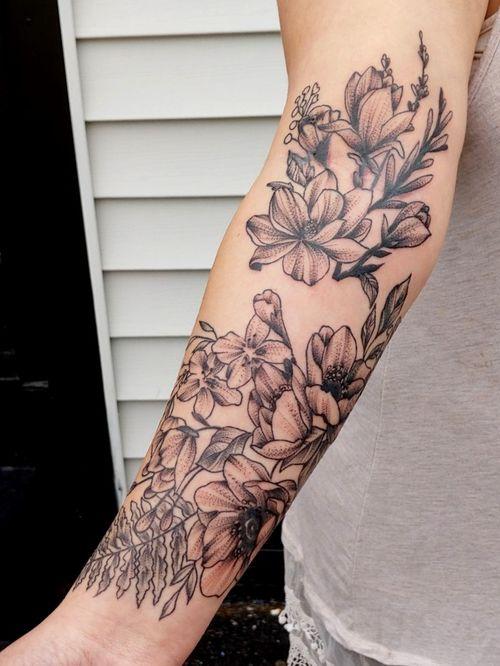 Floral blackwork