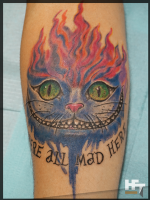 We are all mad here  Alice from Wonderland Cat Cheshire