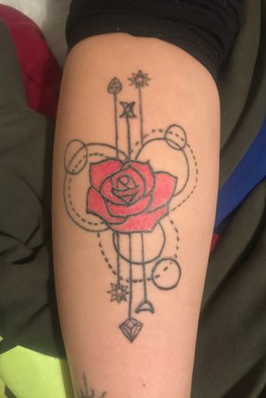 Love the red rose.