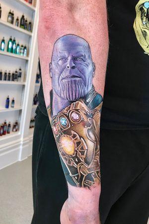 Thanos as played by Josh Brolin