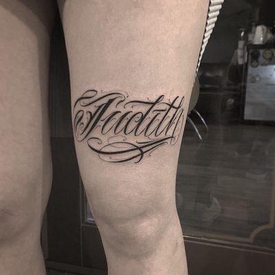 "🇰🇷 ""Judith"". . . . #lapexedgy #letteringtattoo #letras #calligraphy #inked #customlettering #freehandlettering #tattoos #besttattoo #letters #letra #worldwidelettering #lyics #hiphop #handmadetsttoo #koreatattoo #tattoofont #handmadefont #tat #letteringking #f치카노타투 #respectartist #tattooartist #letteringartist #basic #daily #l레터링타투 #lifestyle #customtattoo #치카노레터링"