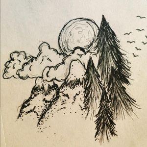 Sketch/possible tat idea from a friend of mine, artist on IG @ duzellrock