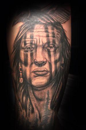 Tonto for benton Nichols always fun tattoing on him