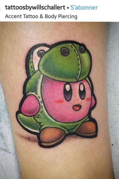 cute kirby tattoo (for inspiration, not mine) #kirby #cute #kawaii #gaming #Nintendo #yoshi