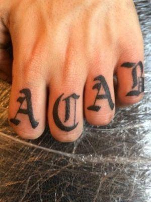 #letteringtattoo #acab