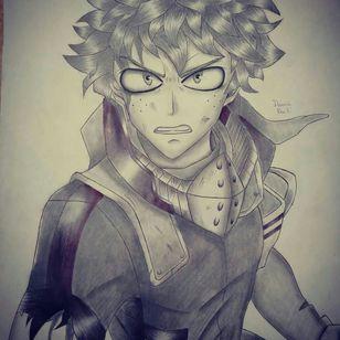 Midoriya Izuku from BNHA drawing by Dounia Rhaiti