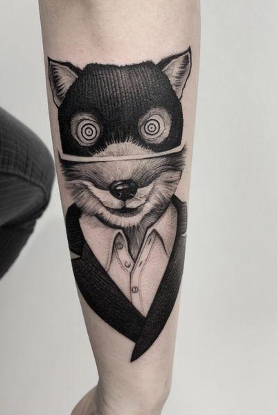 Fantastic Mr Fox #art #tattooartist #tattoo #tattoos #graphic #ink #inked #tattooed #tattooer #tattooart #photooftheday #blackwork #illustation #tattoopeople # #tattoolife #night #fox