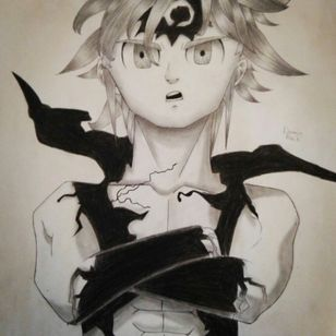Meliodas from The Seven Deadly Sins drawing by Dounia rhaiti