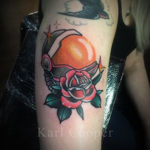 @kcoopertattoo #traditional #oldschool #space #colour #color #neotraditional #london