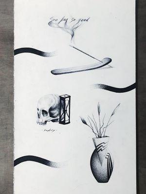 Thomas Bennington aka Bad Luck Veteran  #ThomasBennington #BadLuckVeteran #illustrative #blackandgrey #sketch  #surrealism #surreal #minimal #traditional #Chicano #graphite