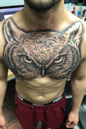#owl #owltattoo #owltattoos #buhoblackandgrey #buho #blackandgrey #blackandgreytattoo #chicagotattoo #chicago