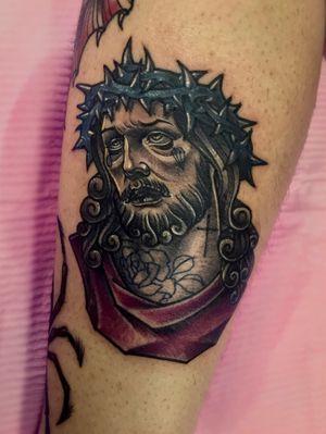 Tattoo by Krystal / #jesus#jesustattoo#neotraditional#newschool#newtraditional