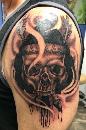 Spade skull arrow mash up #tattoos #inked #tattooed #tattoolife #inkedup #inklife #instaart #tattoodesign #sleevetattoo #inkedlife #drawing #tattooist #inkaddict #travelingartist #colortattoo #tattooed #knoxville #knoxvilletattoo #knoxvilletattooer #peakneedles #quartzcartridges #blackandgrey #yckth #knoxtatts #xionstealth #mythicalcrew #tatted4life80 #skulltattoo #skull #spade #arrow
