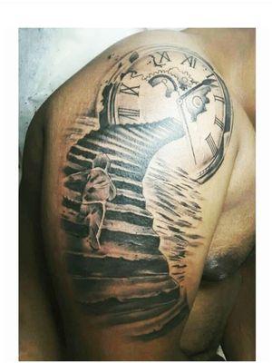 #tattoolover #tattoos #tattooartist #tattooart #tattoo #ink #inked #instadaily #instagood #killerink #bishoptattoomachine #blackandgreytattoo #clocktattoo #realismtattoo #artist #likeforlikes #likeforfollow #likeforlikeback #followme #followforfollowback #followforfollow