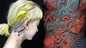 Tattoo on the left by Emily Malice and tattoo on the right by Shi Ryu #Shiryu #EmilyMalice #Awesometattoos #besttattoos #tattoodoapp #appartists #trendingtattoos #toptattoos #tattoodoappartists