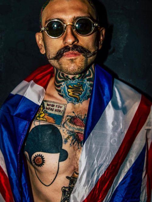Lou Christou photographed by Danny Woodstock #DannyWoodstock #WoodstockModels #tattoomodel #tattoophotography #tattooart #fineart