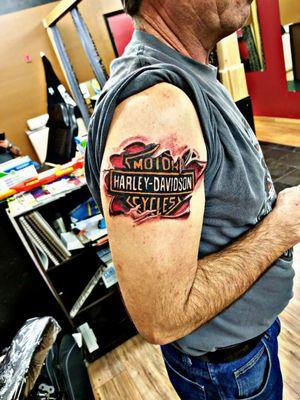 Harley Davidson skin rip Fusion Ink Helios Cartridge needles