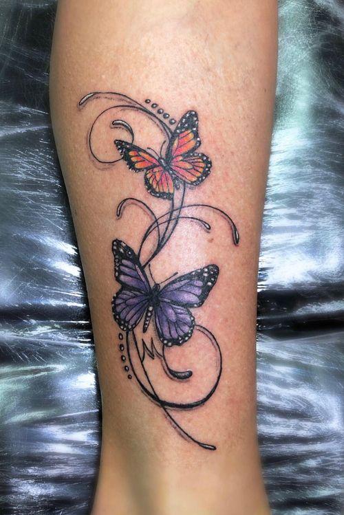 #macheteshoptattoo #Butterflies #butterfliestattoo #tattoocolor