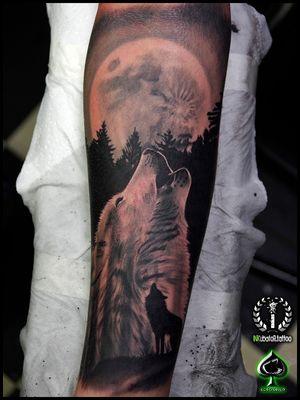 #wolf #wolftattoo #moon #forest #grabo #grabotattoo