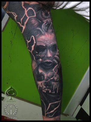 most healed #cover-up #skulltattoo #skull #scarytattoo #grabo #grabotattoo #inkubatortattoo