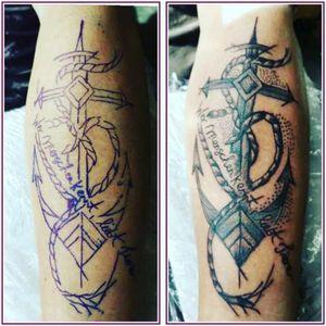 Tattoo unterarm mann oldschool