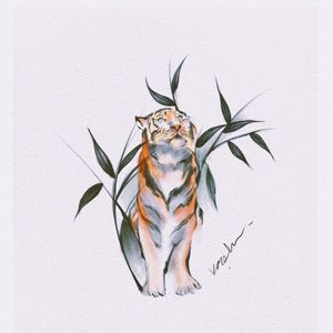 #tigertattoo#melbournetattoo#watercolortattoo#watercolortigertattoo