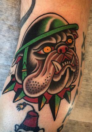 Bulldog! #tattoo #traditional #bulldog #dogtattoo #sailor #oldschool