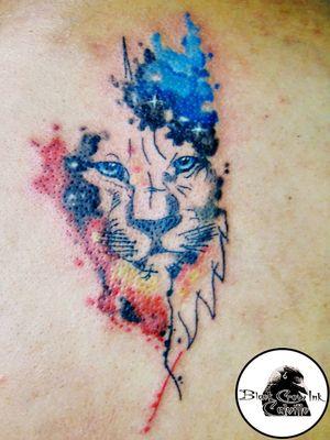 León acuarela. #leon #acuarella #acuarela