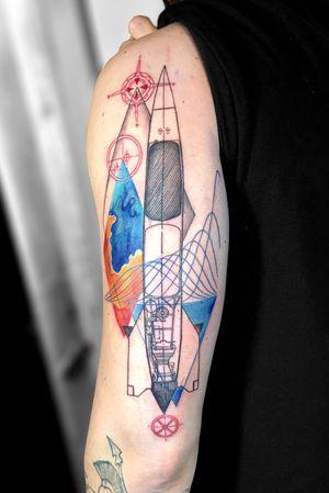 Rocket blueprint for gravity's rainbow