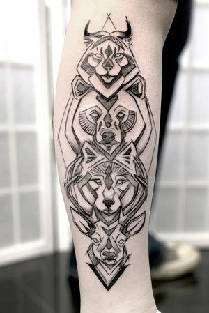 Sketch animal totem