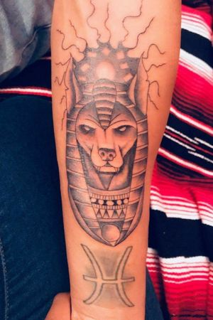 Anubis Tattoo...SHIT WAS PAINFUL LMFAO