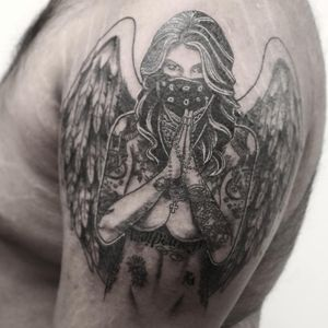 #тату #девушкаскрыльями #trigram #tattoo #girlwithwings #inkedsense #tattooist #кольщик