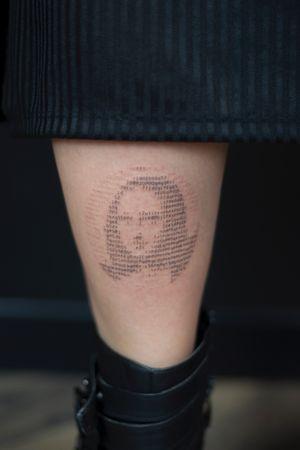 #MonaLisa #portrait #portraittattoo #typewriter