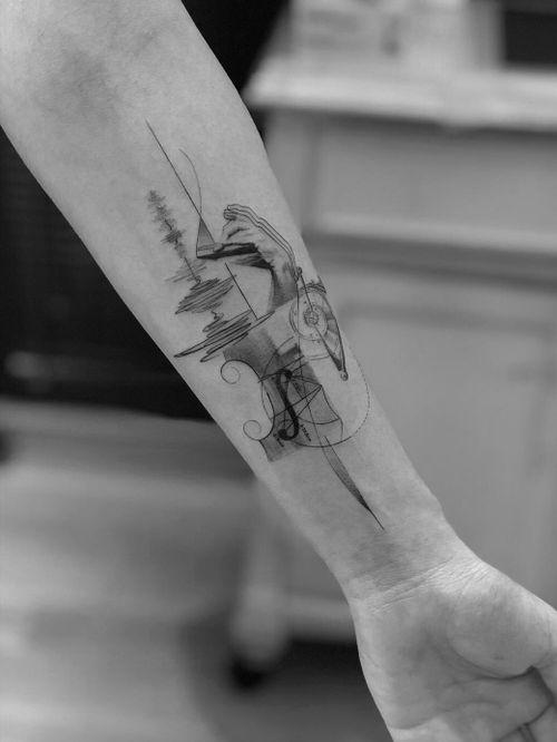 ⚜️ Evolution of sound. #tattooartist #tattooart #Black #blackandgrey #blackwork #ink #Tattoodo #nyc #alianilercel