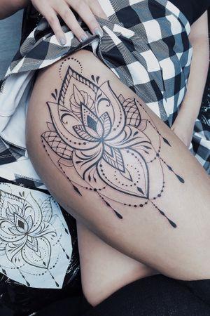 #lotustattoo #lotus #ornamental #ornamentaltattoo #mandala