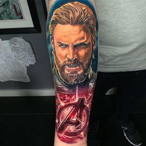 #CaptainAmerica done over 2 days. I'm wanting to do a full set of #Avengers done with the 'A' logo. #marvel #mcu #realism