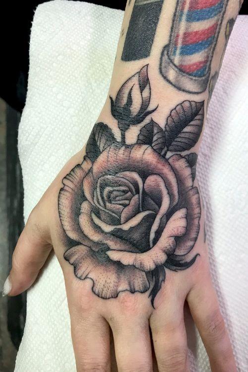 #rose #blackandgray #hand #chalicetattoo #DarcyNutt