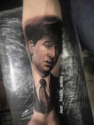 Black and grey tattoo realism porter