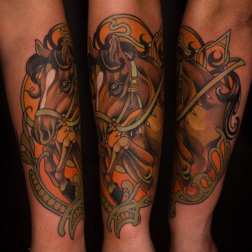 #tattooartist #horse #horsetattoo #newschool #neotraditional