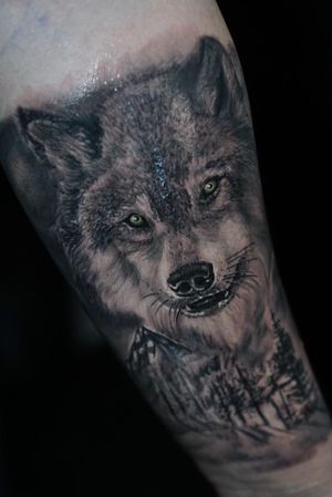 #wolftattoo #wolf #tattoo #saneltattoos #tattoodo